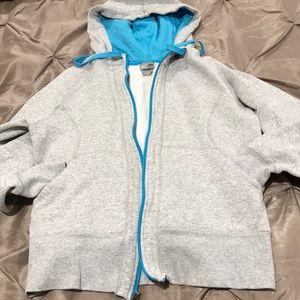 Champion gray and blue hoodie. EUC